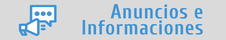 Anuncios e informaciones